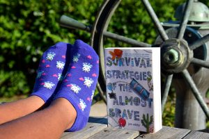 Happy Sock Sunday & Book Review: Survival Strategies of the Almost Brave by Jen White