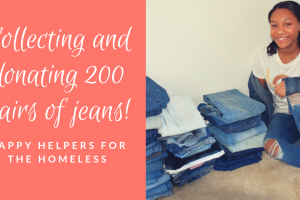Happy Helpers for the Homeless: Donating 200 (actually 203) pairs of jeans!