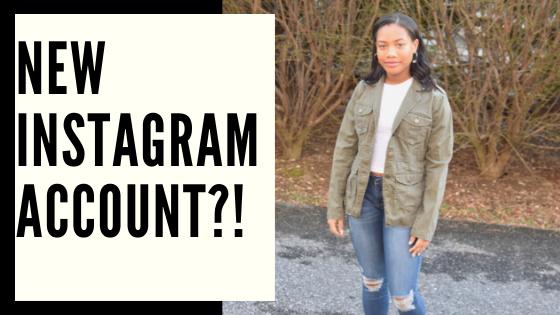 New Instagram Account?!